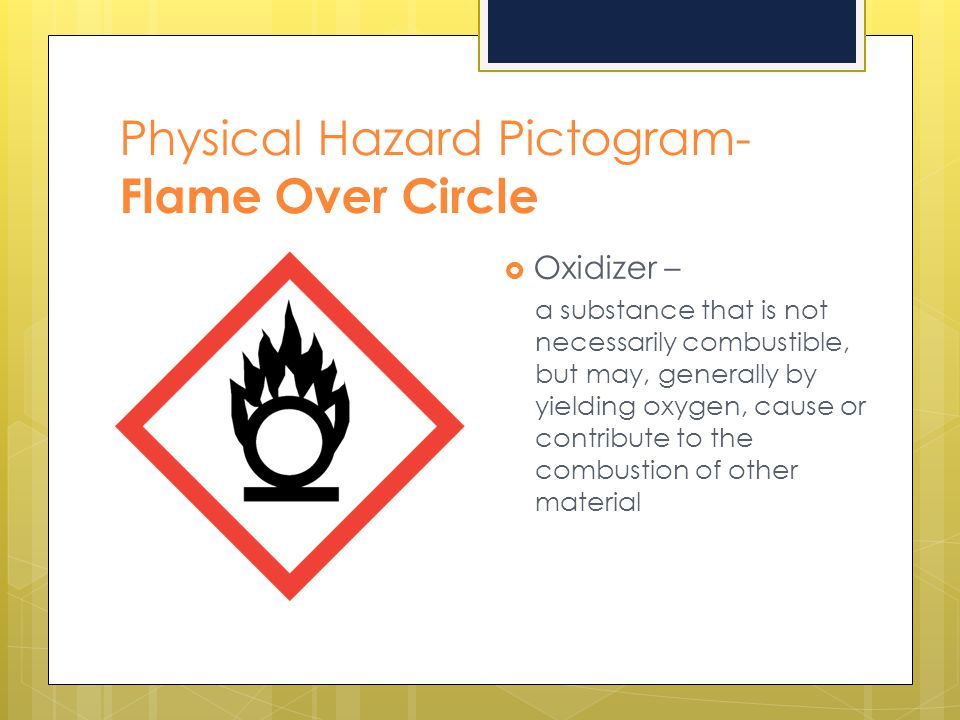 Physical Hazard Pictogram- Flame Over Circle