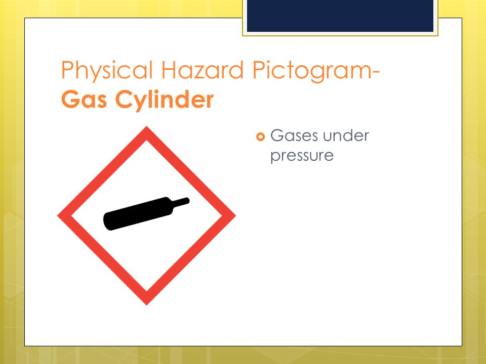Physical Hazard Pictogram- Gas Cylinder
