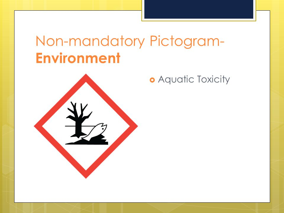 Non-mandatory Pictogram- Environment