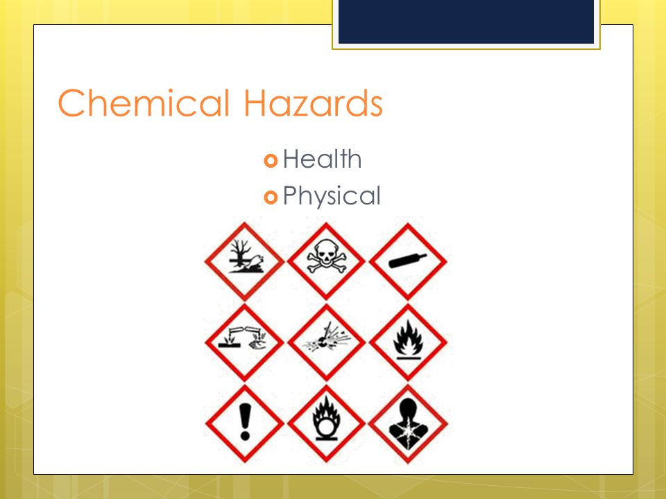 Chemical Hazards Health Physical