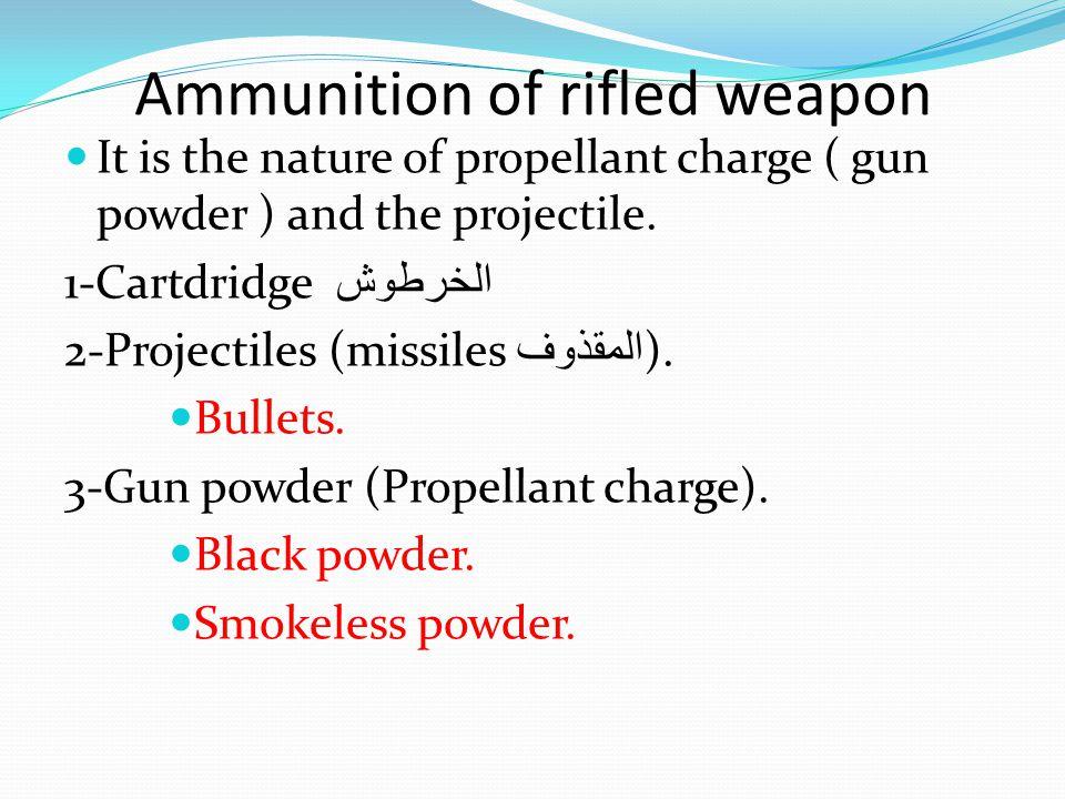 Ammunition of rifled weapon