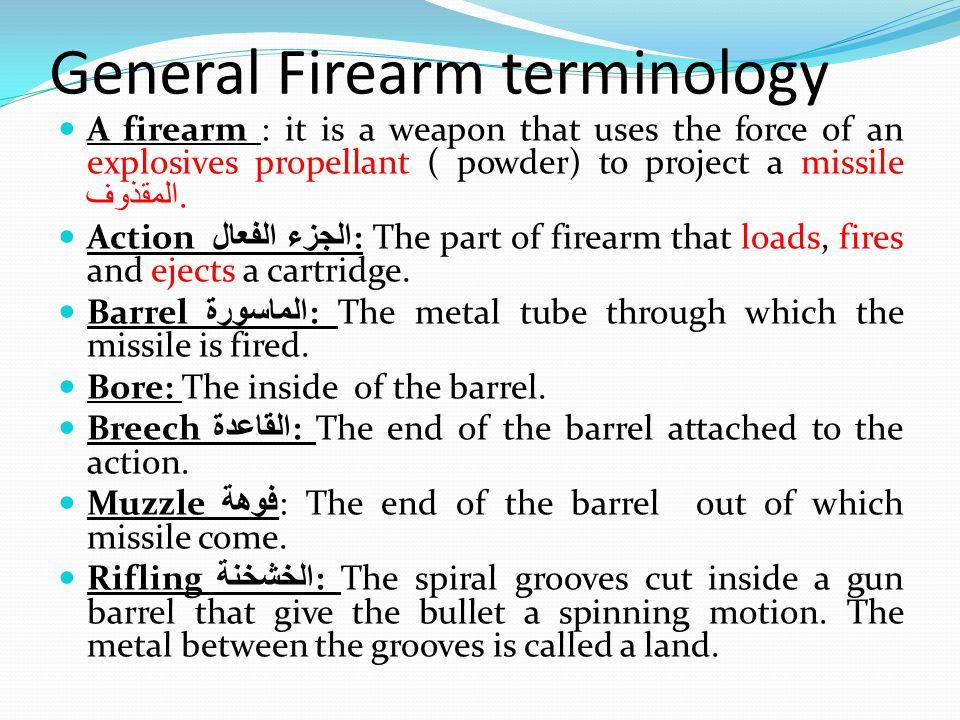 General Firearm terminology