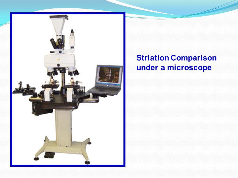 Striation Comparison under a microscope