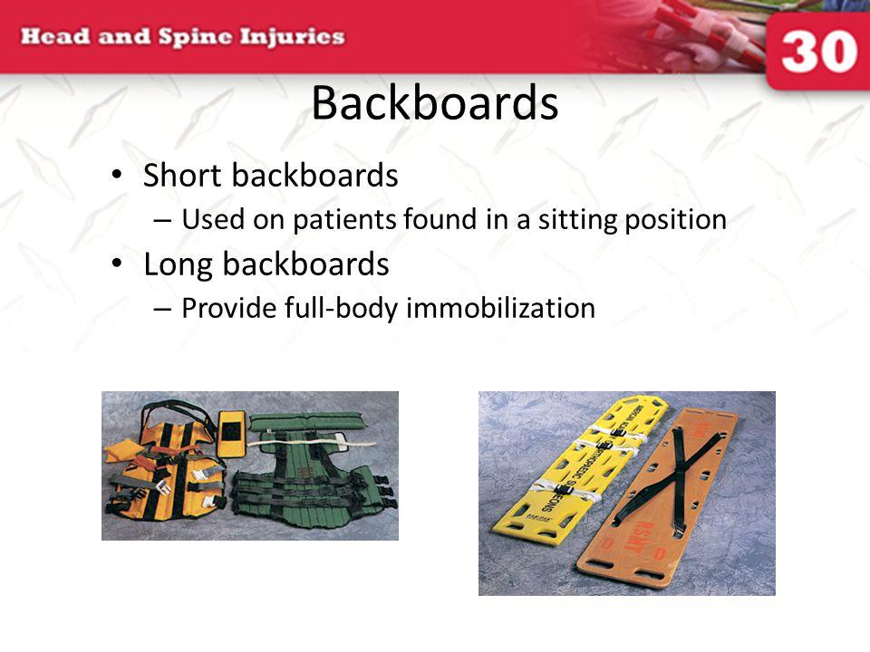 Backboards Short backboards Long backboards