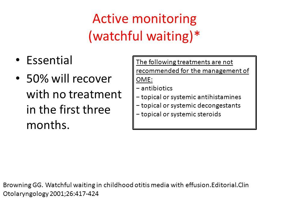 Active monitoring (watchful waiting)*