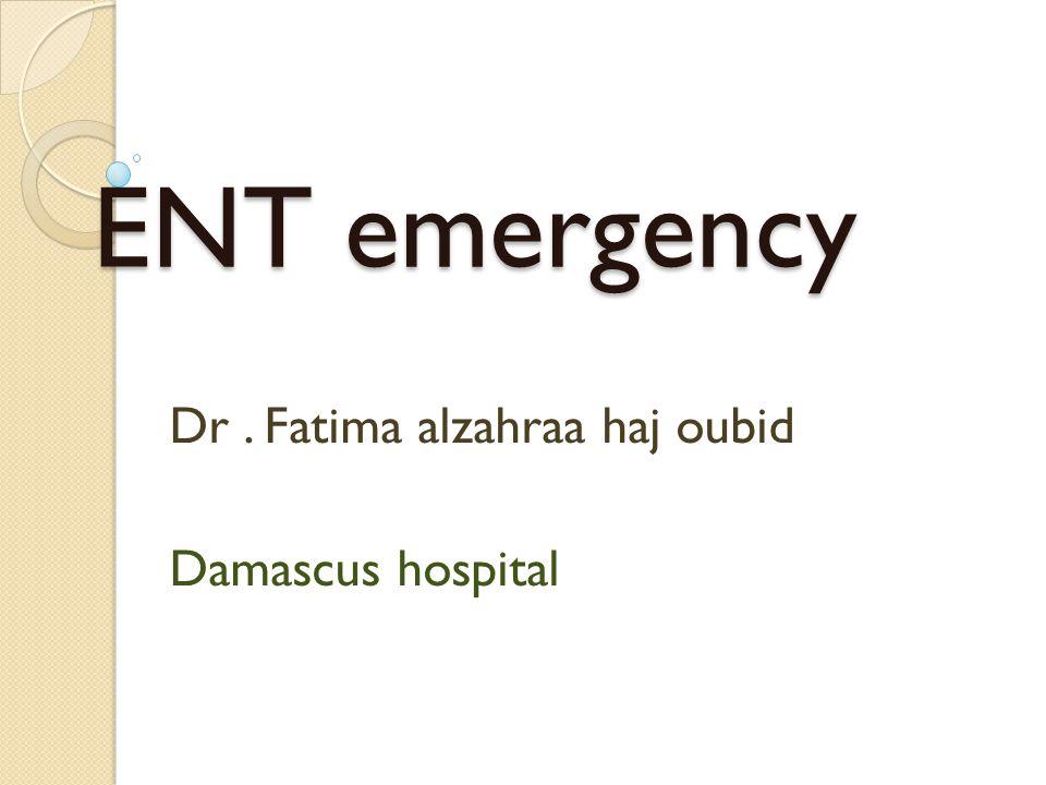 Dr . Fatima alzahraa haj oubid Damascus hospital
