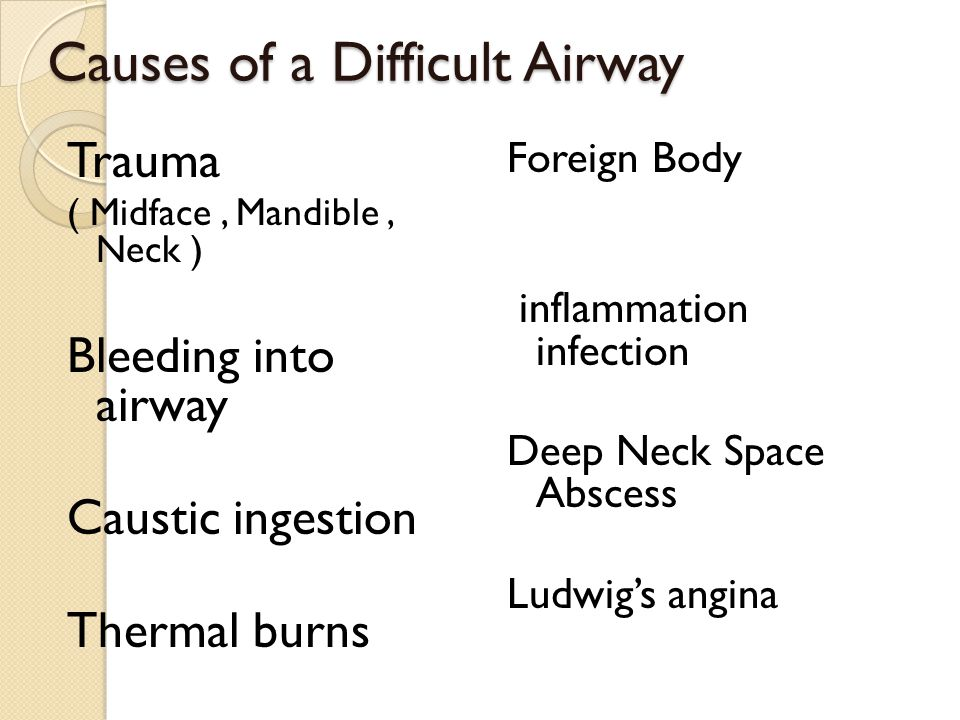 Causes of a Difficult Airway