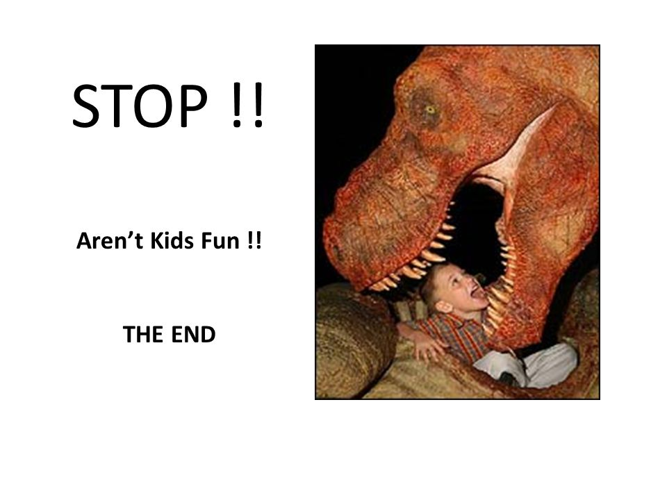STOP !! Aren't Kids Fun !! THE END