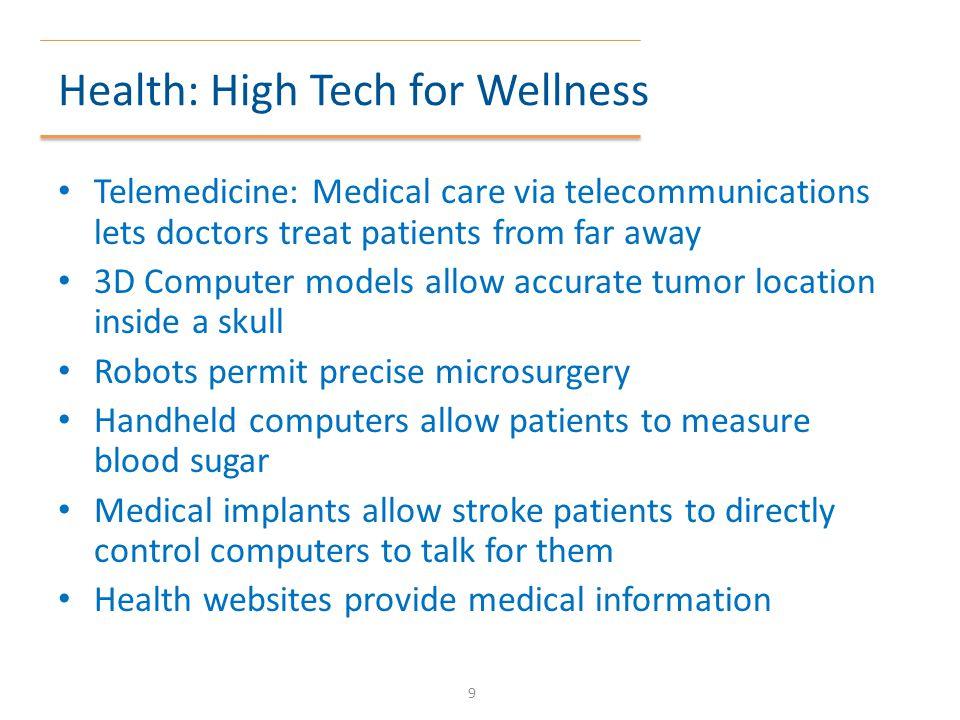 Health: High Tech for Wellness