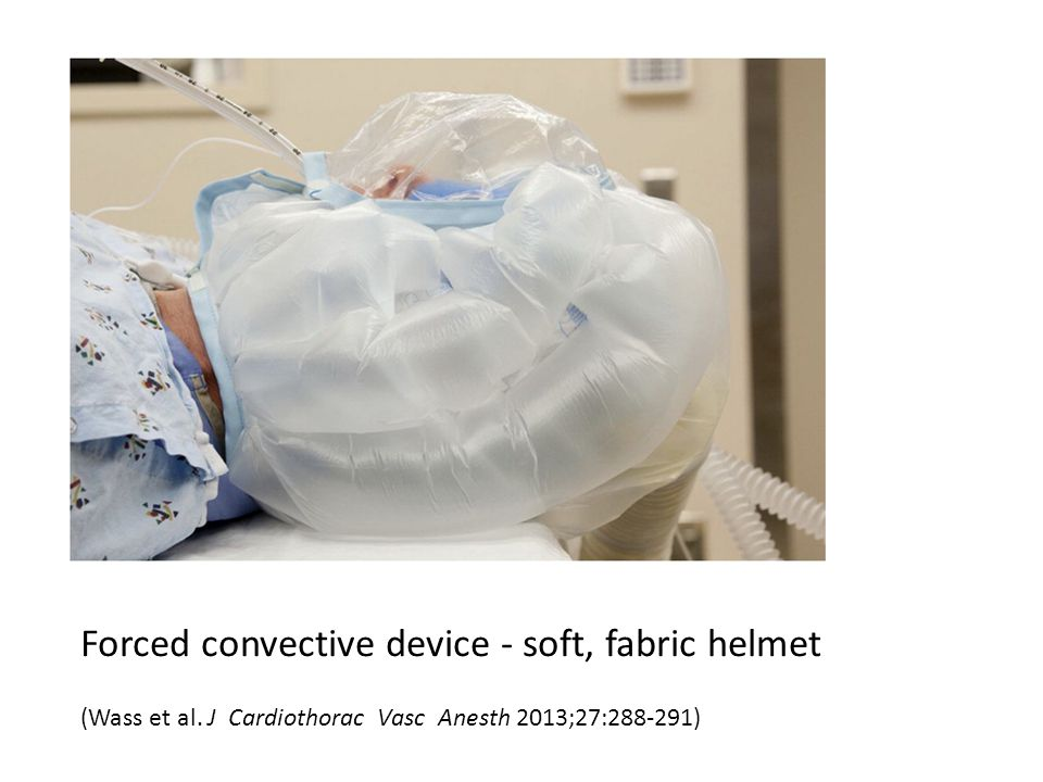 Forced convective device - soft, fabric helmet