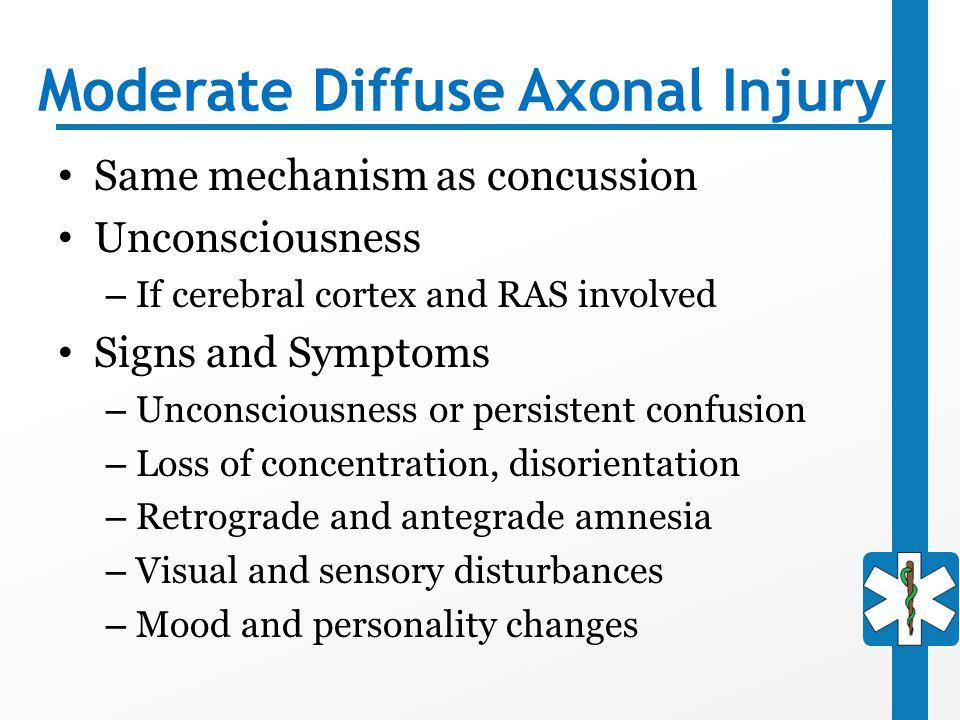 Moderate Diffuse Axonal Injury