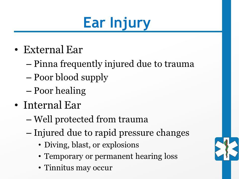 Ear Injury External Ear Internal Ear