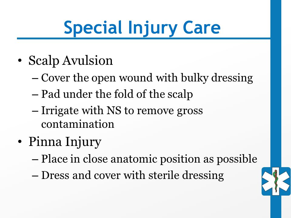 Special Injury Care Scalp Avulsion Pinna Injury