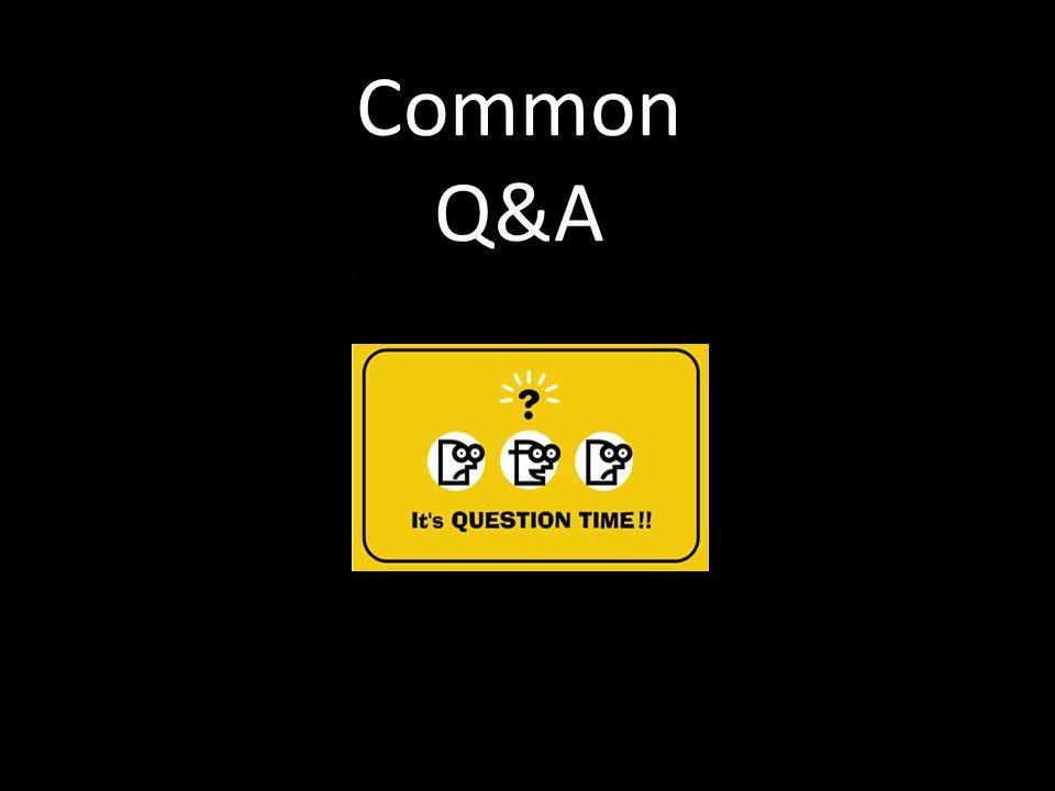 Common Q&A Title Slide