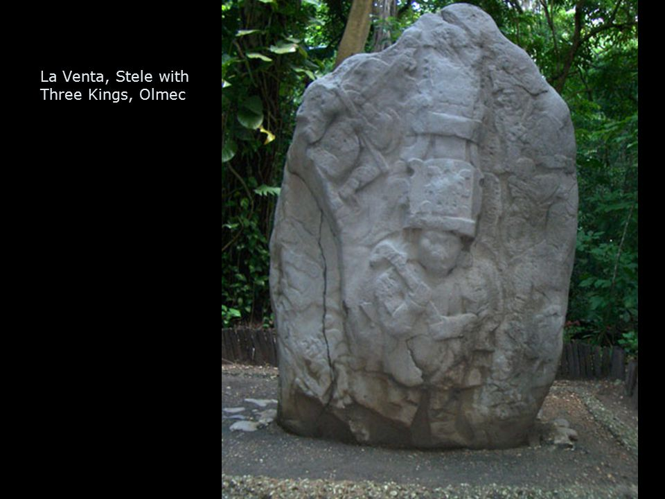 La Venta, Stele with Three Kings, Olmec