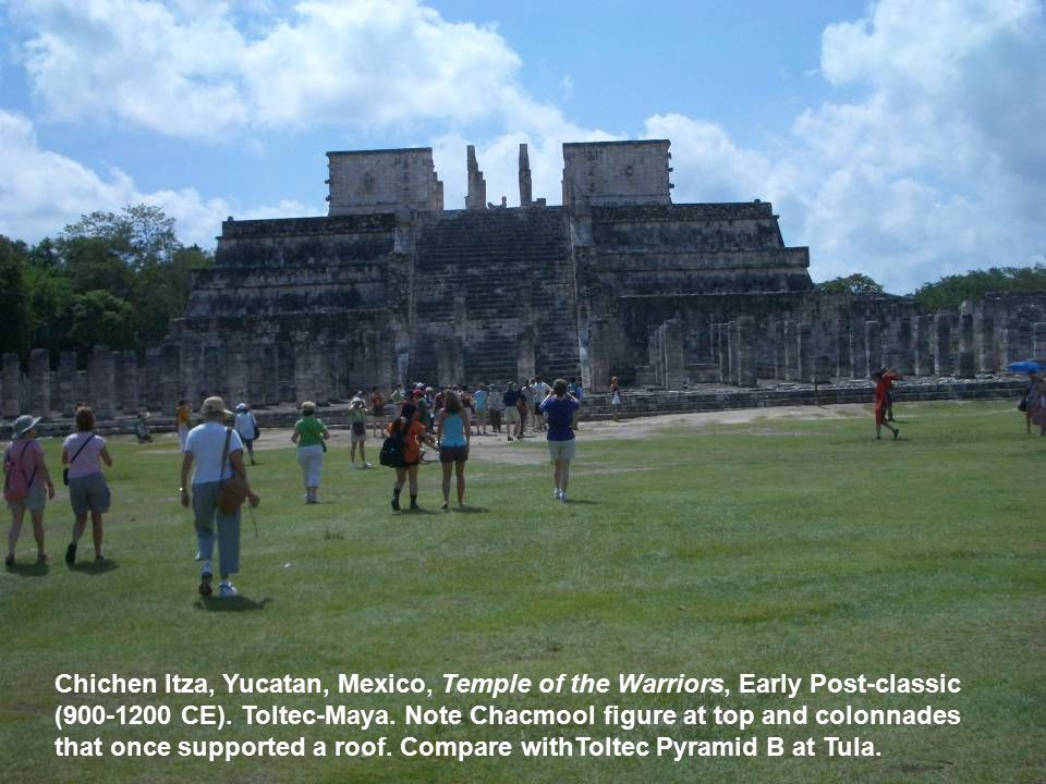 Chichen Itza, Yucatan, Mexico, Temple of the Warriors, Early Post-classic (900-1200 CE).