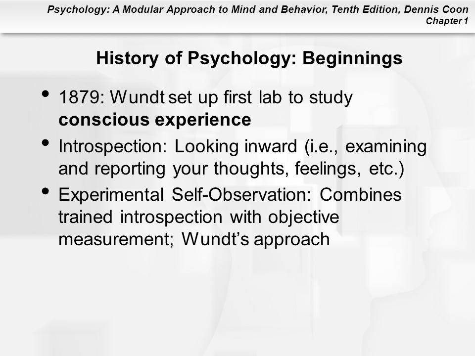 History of Psychology: Beginnings
