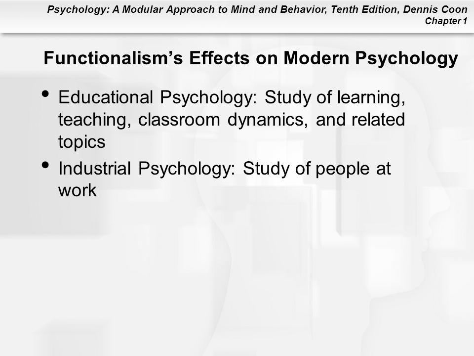 Functionalism's Effects on Modern Psychology