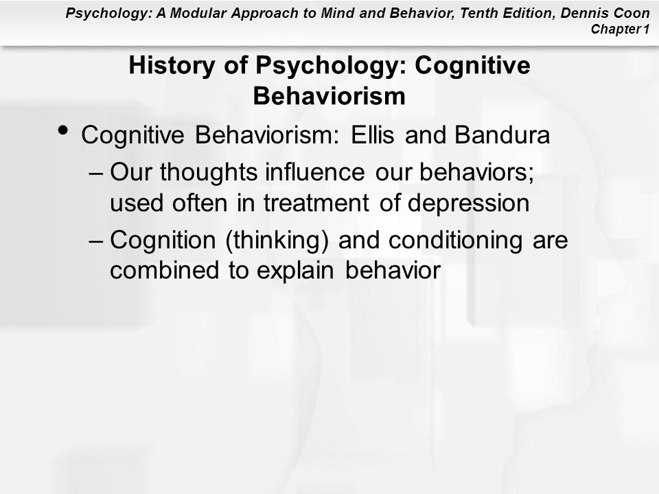 History of Psychology: Cognitive Behaviorism