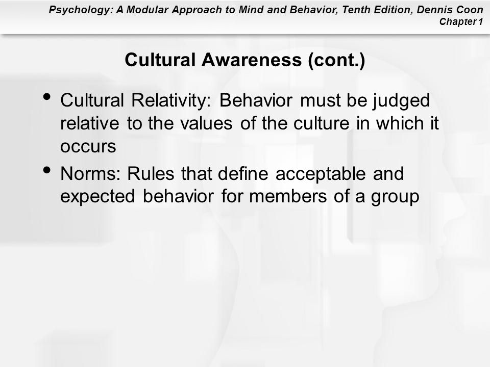 Cultural Awareness (cont.)