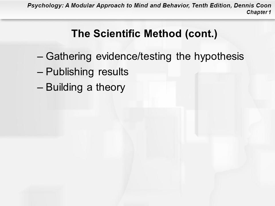 The Scientific Method (cont.)