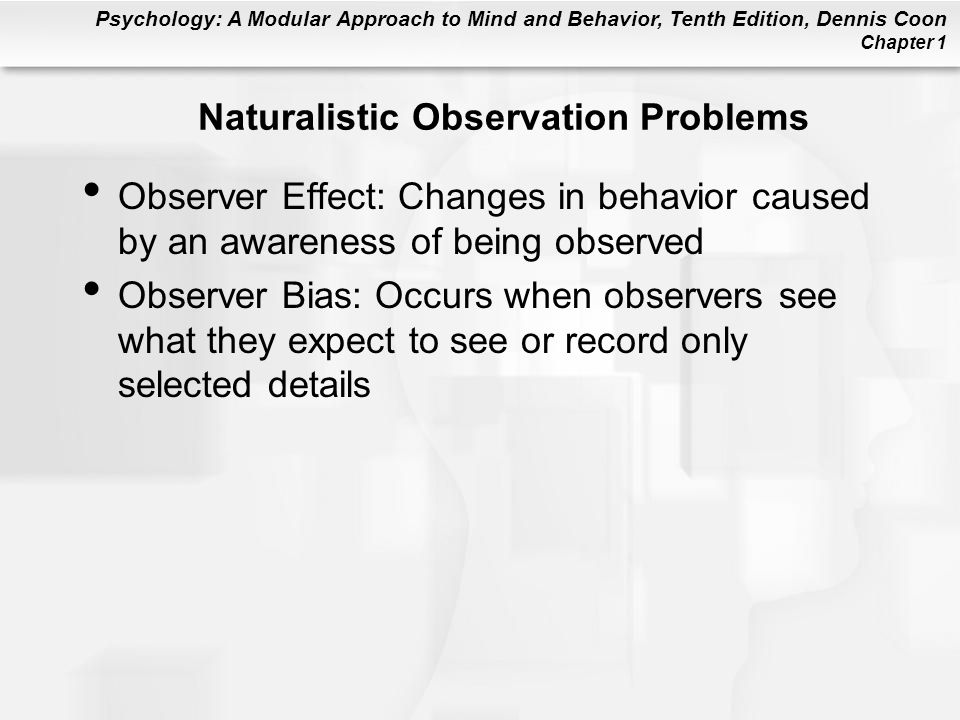Naturalistic Observation Problems