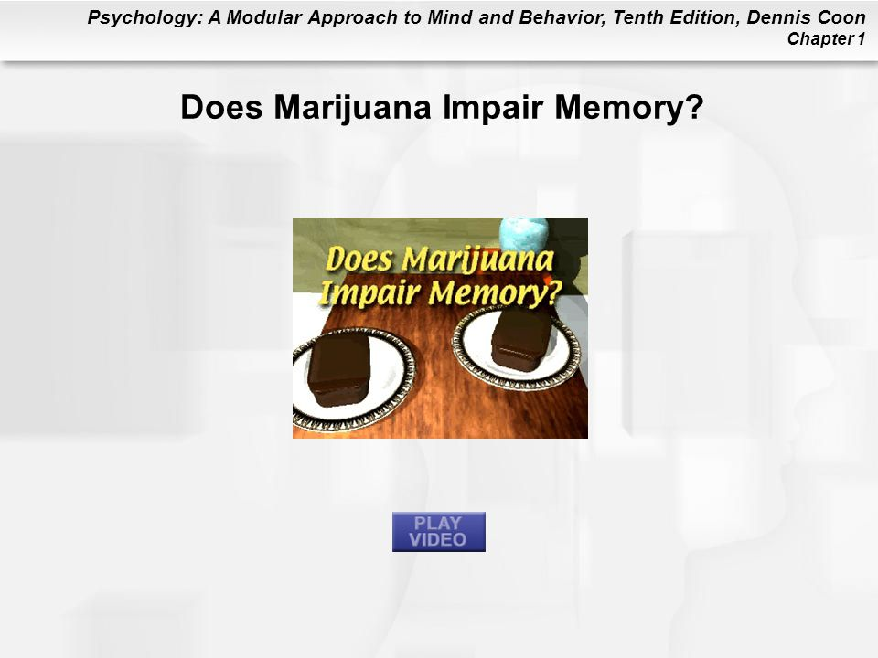 Does Marijuana Impair Memory