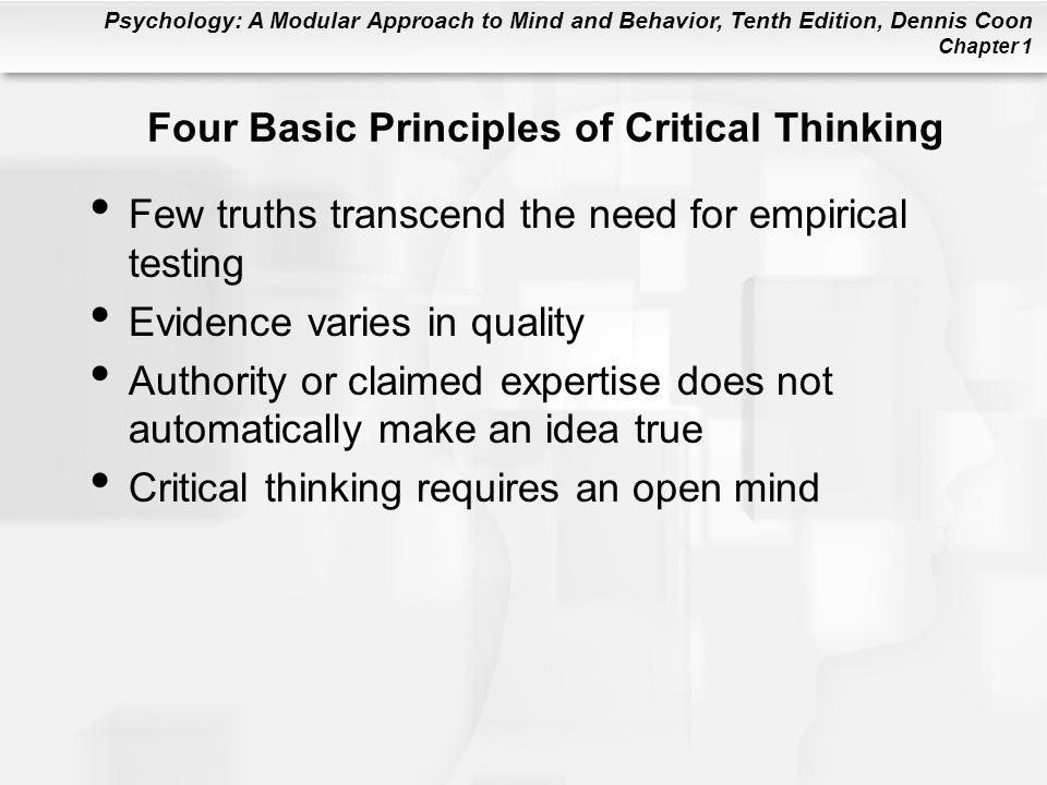 Four Basic Principles of Critical Thinking