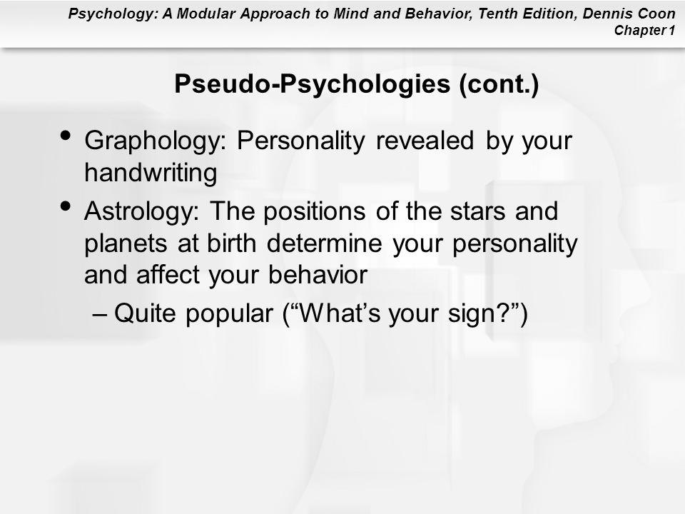 Pseudo-Psychologies (cont.)