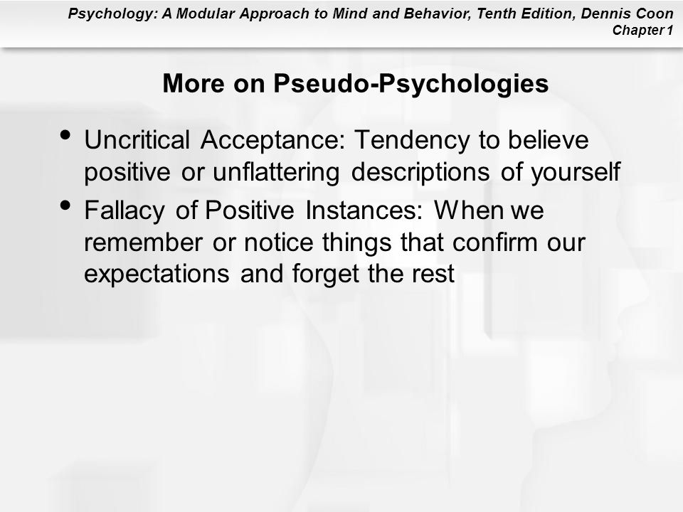 More on Pseudo-Psychologies