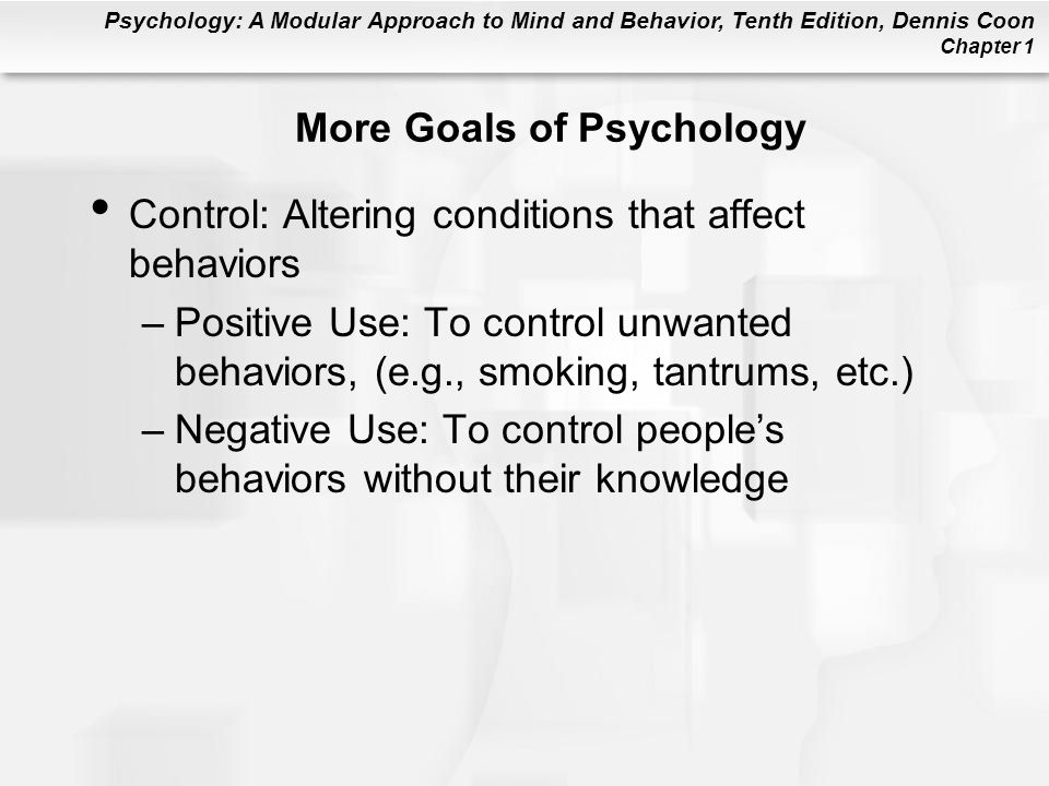 More Goals of Psychology