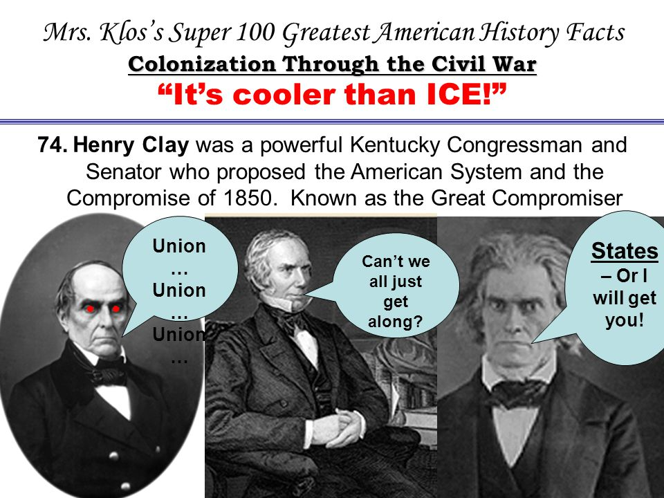 Mrs. Klos's Super 100 Greatest American History Facts