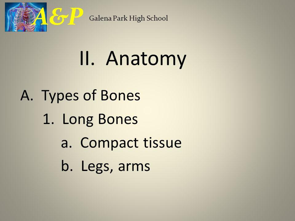 A&P Galena Park High School. II. Anatomy. A.