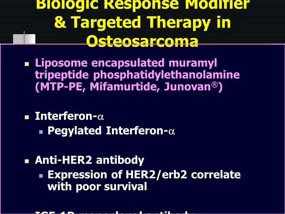 Biologic Response Modifier & Targeted Therapy in Osteosarcoma