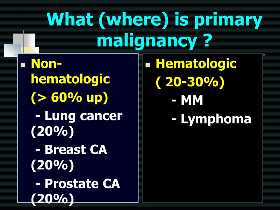 What (where) is primary malignancy