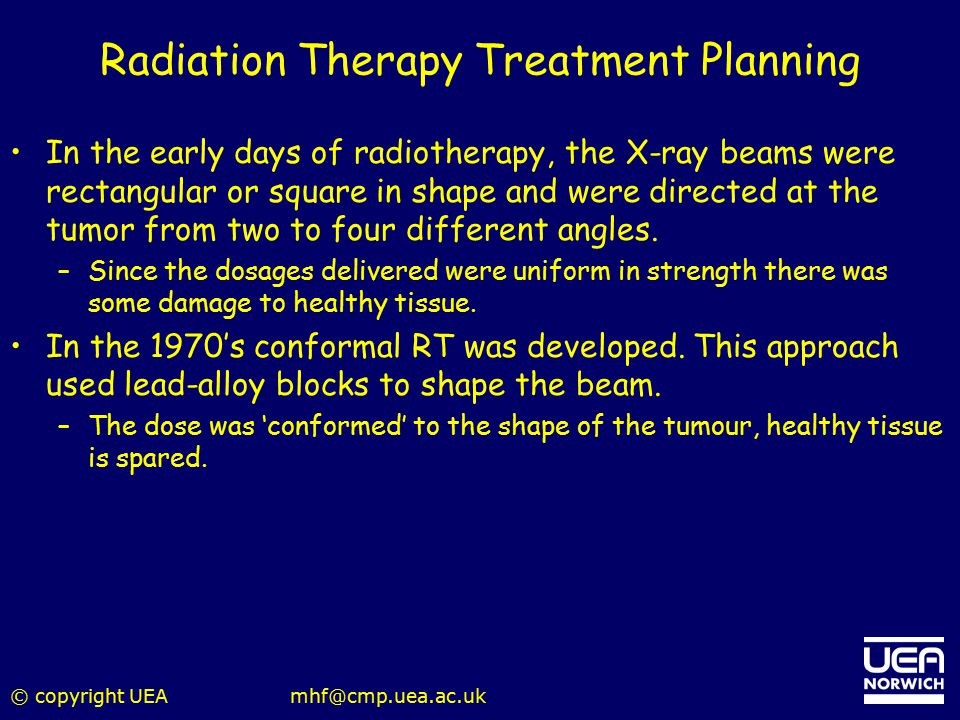 Radiation Therapy Treatment Planning