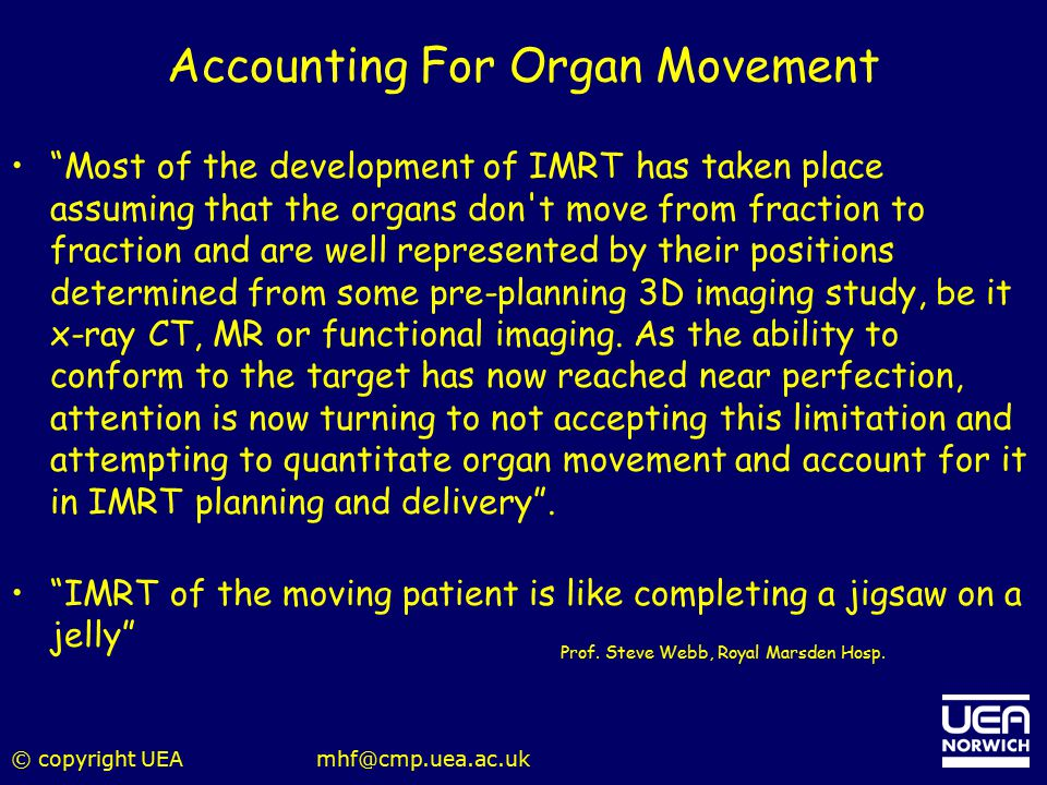 Accounting For Organ Movement
