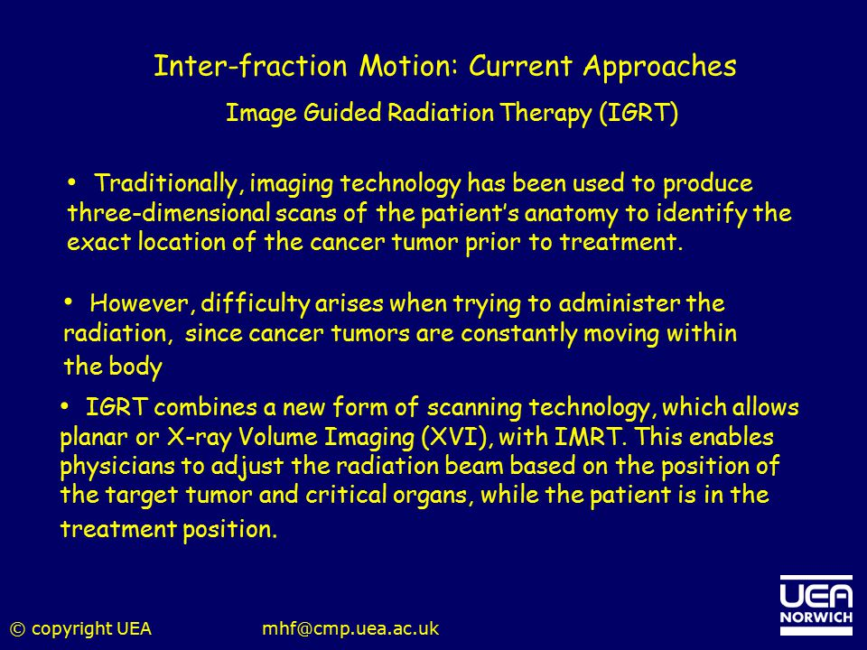 Inter-fraction Motion: Current Approaches