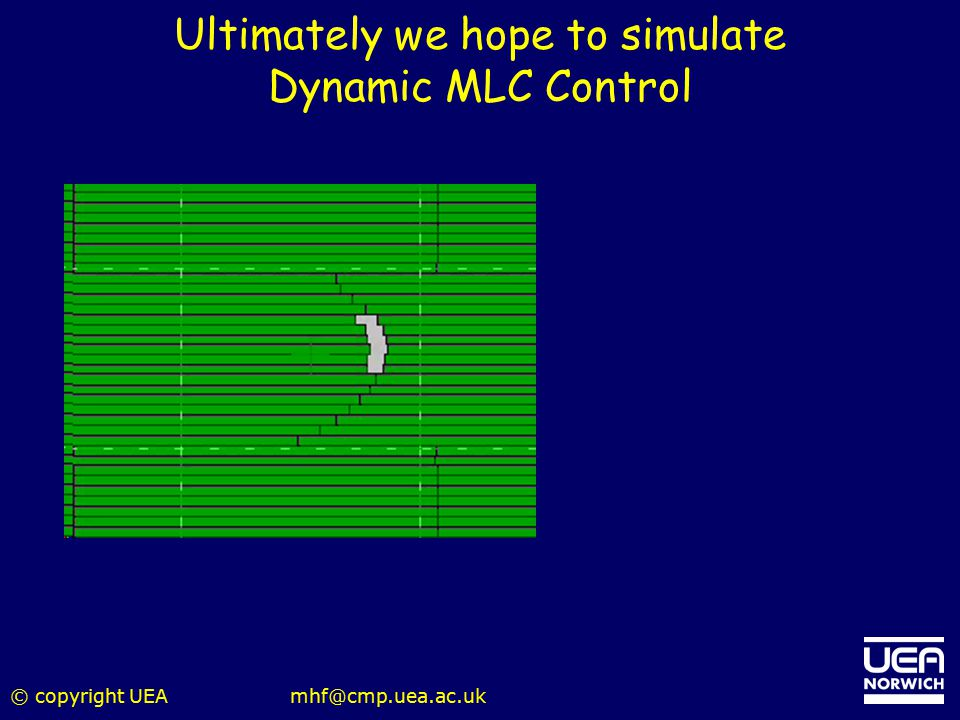 Ultimately we hope to simulate Dynamic MLC Control