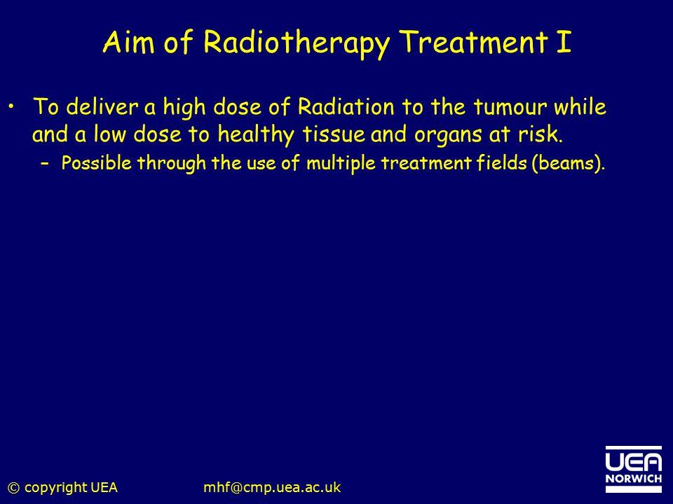 Aim of Radiotherapy Treatment I