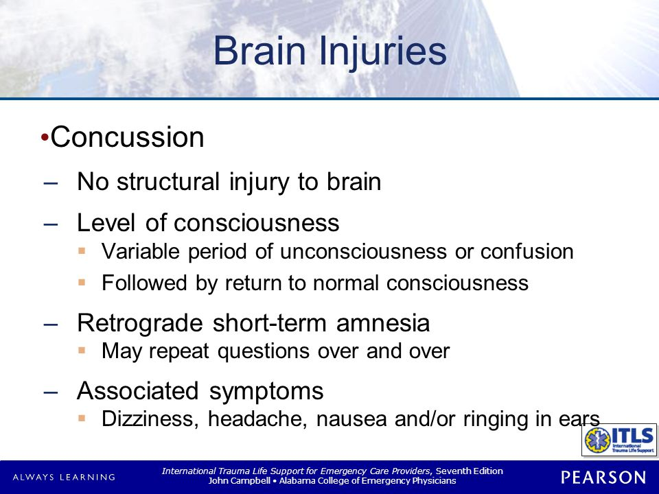 Brain Injuries Cerebral contusion Bruising of brain tissue