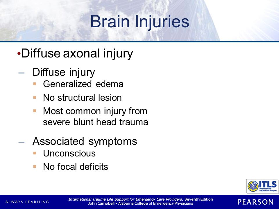 Brain Injuries Anoxic brain injury