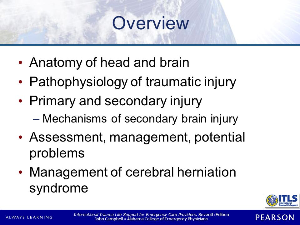 Head Trauma Traumatic brain injury (TBI)