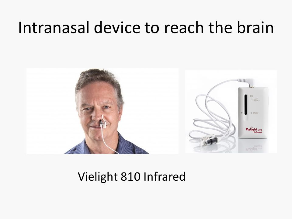 Intranasal device to reach the brain