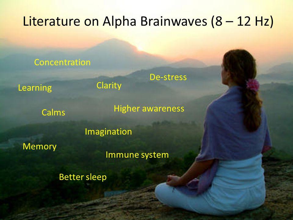 Literature on Alpha Brainwaves (8 – 12 Hz)