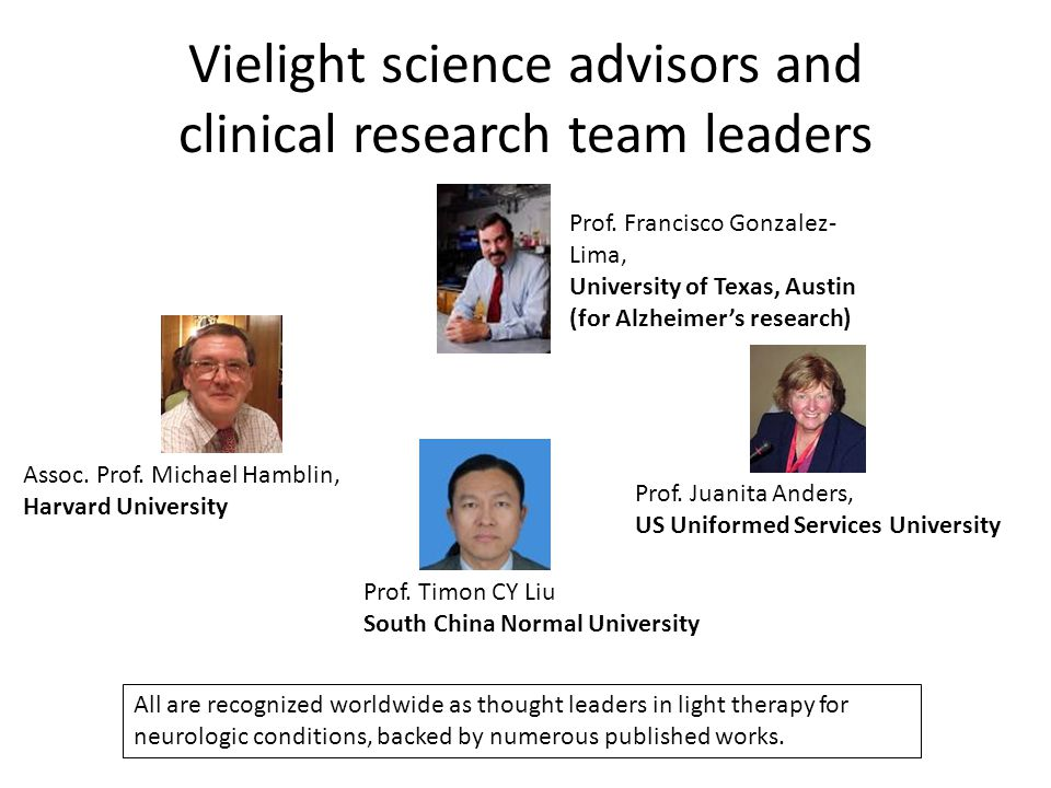 Vielight science advisors and clinical research team leaders