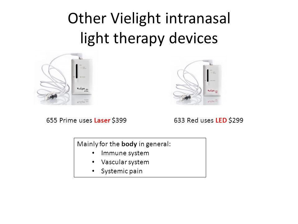 Other Vielight intranasal light therapy devices