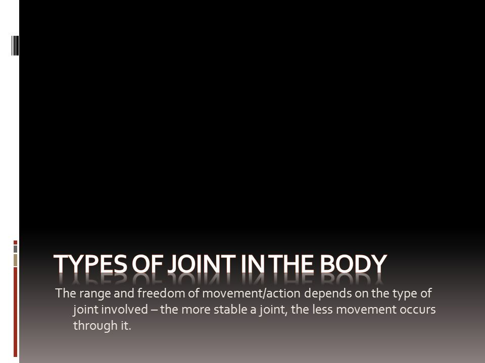 Types of joint in the body