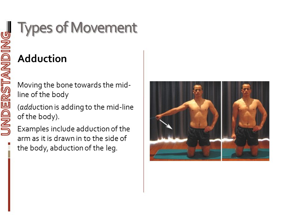 Types of Movement UNDERSTANDING Adduction