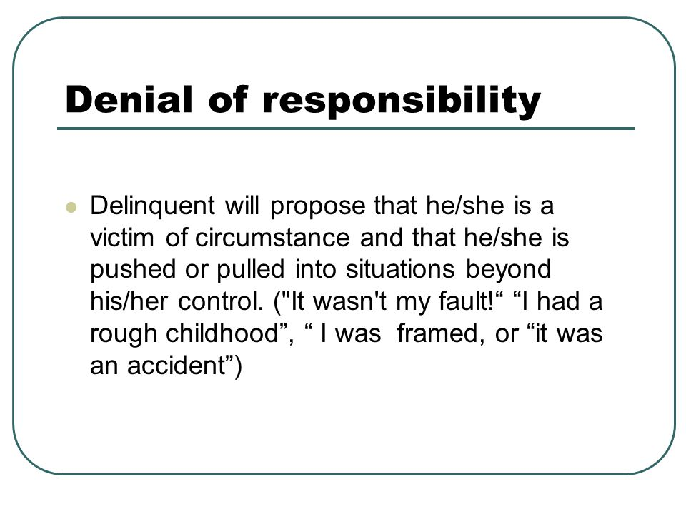 Denial of responsibility